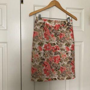 Like-New Halogen Floral Pencil Skirt